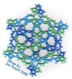 Tat-a-Renda Patterns: 'Quantiesque' Snowflake