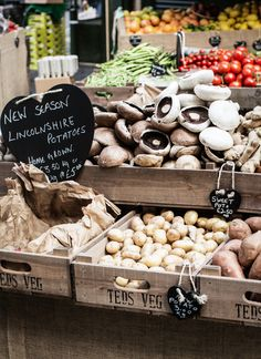 Mushrooms and potatoes