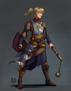 Character art for someone over at /r/characterdrawing Great character, young cleric of Sarenrae named Rhian. Concept: Cleric of Sarenrae In Training Dungeons And Dragons Characters, Dnd Characters, Fantasy Characters, Female Characters, Female Character Design, Character Concept, Character Art, Character Ideas, Character Creation