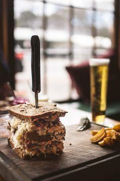 Dramatic Rueben Sandwich @ Essen Restaurant & Beer Cafe, lunch menu only