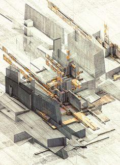 Atelier Olschinsky : Structures II : Illustration Series
