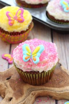 Nutty chocolate cupcakes with a creamy buttercream frosting and decorated with colored sugar, these chocolate almond cupcakes will be a hit with the little ones  #piratefairy #bh #ad