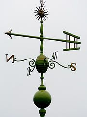Green Roof Ornament Weathervane