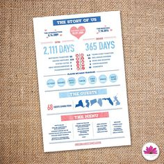 The Story of Us - Wedding/ Rehearsal Dinner Menu (Digital File)