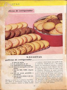 Recetario Maicena - Piper Pérez - Álbumes web de Picasa Vintage Cooking, Cakes And More, Christmas Treats, Cake Cookies, Cake Pops, Delicious Desserts, Bakery, Muffin, Food And Drink