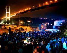 Gece İstanbul Boğazı