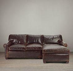 Lancaster Leather Sectionals | Restoration Hardware