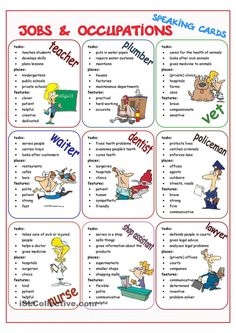 Jobs & Occupations Speaking Cards