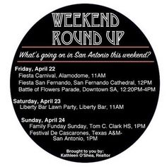 #sanantonio #weekender #weekendroundup #kathleenoshea #crs