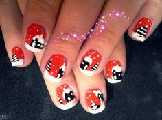 let it snow by lela from Nail Art Gallery