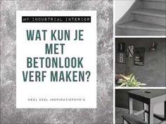 Betonlook verf / Effect Paint - Primer - 1 liter - Wit - Paint Primer, Industrial Interiors, Sweet Home, Beige, Painting, Gouache, Campers, Home Decor, Toilet