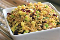 Israeli Couscous Salad - super yummy salad with a nice, fresh flavor. I've made it for four different bbq occasions and everyone has loved it.
