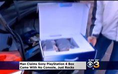 Compra la PS4 e dopo averla aperta trova... delle pietre! #ps4 #fail #truffa