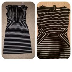 NWT, White House Black Market Dress NWT, White House Black Market amazing style black & white dress. The perfect fit, slight tapered waist, back zip closure, top fully lined, beautiful material! Made of 67% polyester, 31% rayon, 2% spandex. Lining made of 100% polyester. Brand new with tag, Size 00. No trades White House Black Market Dresses