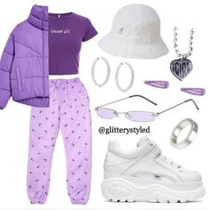p i n : - Grunge Fashion Looks That Feel Very at the moment Lila Outfits, Purple Outfits, Teenage Outfits, Cute Swag Outfits, Teen Fashion Outfits, Look Fashion, Stylish Outfits, Preteen Fashion, Girl Fashion
