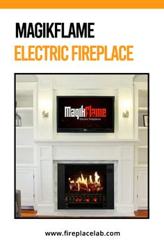 If you are looking for a fireplace without all of the hassle and work, you should take a look at the Magikflame Electric Fireplace. Here read our blog and find out the best Magikflame Electric Fireplace💯 along with buyer's guide that will assist you in your choice. 😉 Realistic Electric Fireplace, Best Electric Fireplace, Faux Fireplace, Fireplace Inserts, 1000 Sq Ft, White Mantel, Wood Mantels, Real Fire, Canned Heat