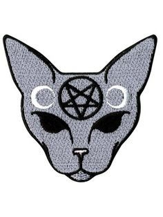 This awesome patch in grey is simply fabulous! Moulded into the face of a sphynx cat