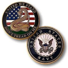 Don't Tread On Me Challenge Coin - Enamel