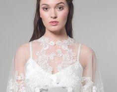 Maya Bridal Cape Bridal Capelet Bridal Cover Up by MarisolAparicio