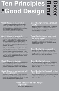 https://flic.kr/p/6QZVT1 | 10 Principles for Good Design | Text from www.vitsoe.com/en/gb/about/gooddesign