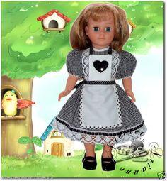 Vêtement pour poupée Modes et Travaux Marie Françoise ou Françoise Robe tablier