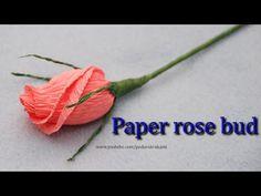 Бутон розы из конфеты и бумаги. paper rose bud tutorial - https://www.youtube.com/watch?v=-uGAd704xRc