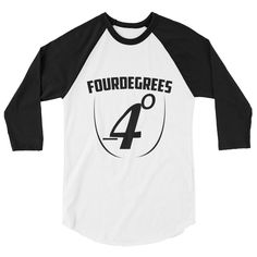 Excited to share the latest addition to my #etsy shop: FourDegrees 3/4 sleeve raglan shirt