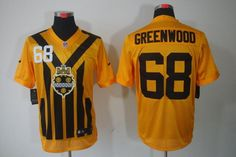 f25117e7a Men 68 LC Greenwood Jersey Football Yellow Pittsburgh Steelers Jersey. Pittsburgh  Steelers JerseysNfl JerseysJack LambertTroy Polamalu