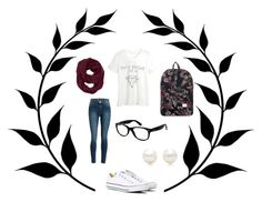School outfit by delphine-degraeve on Polyvore featuring schoonheid, Ray-Ban, Athleta, Tiffany & Co., Herschel Supply Co., WithChic and Converse