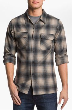 Pendleton Fitted Wool Shirt available at #Nordstrom