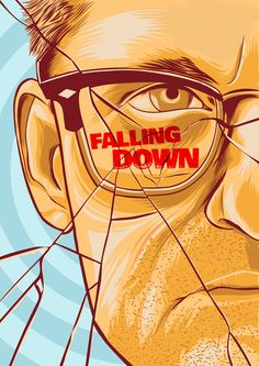 Falling Down by Dustin Knotek - Home of the Alternative Movie Poster -AMP- Movie Synopsis, Non Plus Ultra, Superhero Poster, Kino Film, Cinema Posters, Alternative Movie Posters, Movie Props, Design Graphique, Film Serie