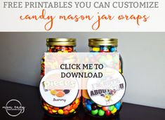Free customizable and printable PDF files to create your own gift for a loved one. Perfect for Mother & Father's Day, & birthdays. Mason Jar Fathers Day Gifts, Mason Jar Gifts, Fathers Day Crafts, Mason Jar Diy, Diy Father's Day Gifts Easy, Diy Gifts, Easy Diy, Mason Jar Candy, Mason Jar Holder