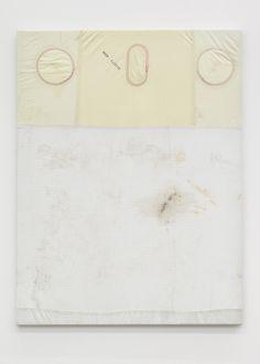 Ross Iannatti - Hysteresis no. 29, 2013, Silicone coated nylon fabric, sodium azide, residue, wood, 120 x 90 cm