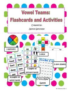 Vowel Team Flashcards and Activities