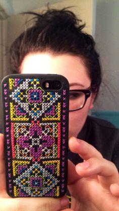 DIY Cross stitch iPhone case