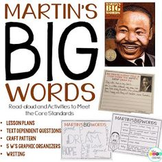 We wanted to teach about Martin Luther King Jr. this month during our read-aloud time so we picked an old favorite: Martin's Big Words. We...