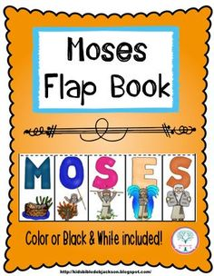 Bible fun for kids: flap book: moses more bible lessons for kids, bible Moses Bible Crafts, Bible Story Crafts, Bible School Crafts, Bible Crafts For Kids, Bible Study For Kids, Preschool Bible, Bible Lessons For Kids, Bible Activities, Sunday School Crafts