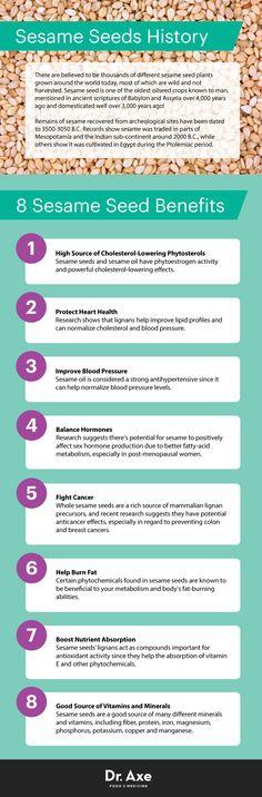 Benefits of sesame seeds - Dr. Axe http://www.draxe.com #health #holistic #natural