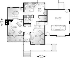 Lowcountry Home Plan First Floor - 032D-0633 | House Plans and More