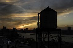Water Tower Sunset - www.joejosephs.net From My Roof Gallery