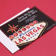 Fabulous Las Vegas Save the Date Cards, Las Vegas Save-the-Date Cards