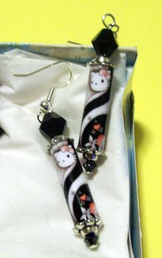 Hello Kitty Earrings by Candras on Etsy, $16.99