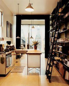 bookshelf-inspired kitchen shelves #creative