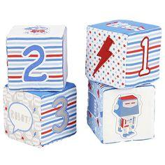 """Soft Cubes, 4 Pack - Robot"" - Target Australia"