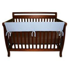 Trend Lab Solid Convertible Crib Rail Cover, Blue