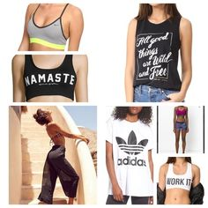 Awesome workout gear for under $50.00  Stay in shape and style with these great deals  #ssCollective #ShopStyleCollective #ShopStyleFestival #MyShopStyle #ootd #mylook #getthelook #wearitloveit #summerstyle #lookoftheday #currentlywearing #todaysdetails Stay In Shape, Workout Gear, Festival Fashion, Get The Look, Cloths, 50th, Athletic Tank Tops, Awesome, How To Wear