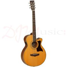 Tanglewood TW145-ASC Premier Super Folk Guitar - The Tanglewood Premier Bonded Super Folk is a superb mid-range option for the more accomplished Guitarist, & absolutely perfect for Acoustic Players acquiring themselves in the Recording Studio or seriously establishing themselves on the gigging stage.