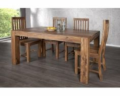 Stół Rozkładany z drewna shisham 160-240x100cm - i15517