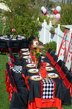 Queen of hearts birthday party
