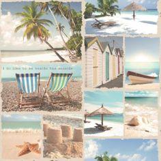 K2 Wish You Were Here Beach / Seaside Montage Wallpaper 11280   eBay